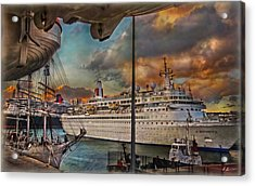 Cruise Port Acrylic Print by Hanny Heim
