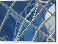 Cruise Ship Abstract Girders And Dome 2 Acrylic Print