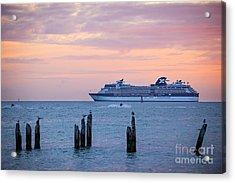 Cruise Ship At Key West Acrylic Print
