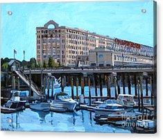 Cruiseport Boston Acrylic Print by Deb Putnam