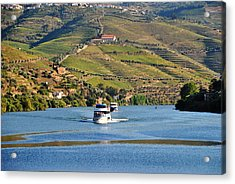 Cruising Douro River Valley Acrylic Print by Jacqueline M Lewis