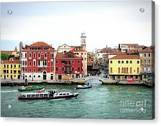 Acrylic Print featuring the photograph Cruising Into Venice by Mel Steinhauer
