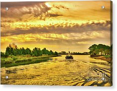 Cruising Out Of Murrells Inlet Acrylic Print by Mel Steinhauer
