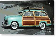 Cruising Woody Acrylic Print by Uli Gonzalez