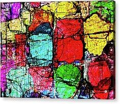 Crumbling Stone Wall Acrylic Print