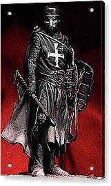 Crusader Warrior - Medieval Warfare Acrylic Print
