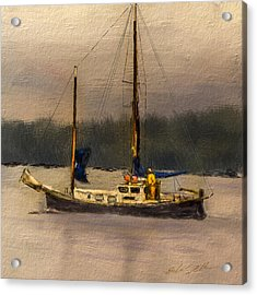 Acrylic Print featuring the digital art Crusing The Sound by Dale Stillman