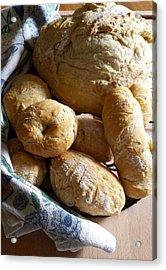 Crusty Artisan Breads Acrylic Print