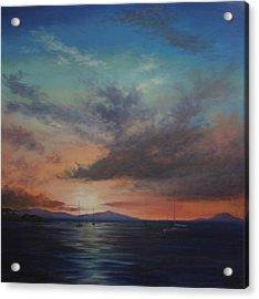 Cruz Bay Sunset By Alan Zawacki Acrylic Print