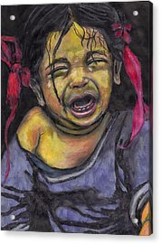 Cry Baby Cry Acrylic Print by Jean Haynes