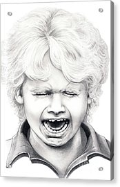 Cry Baby Acrylic Print by Murphy Elliott