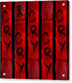 Cry With A Ribbon Acrylic Print by Taylor Steffen SCOTT