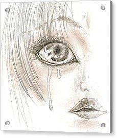 Crying Eye Acrylic Print by Darryl Redfern