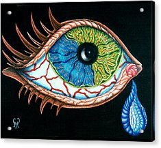 Crying Eye Acrylic Print by Karen Musick