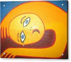 Crying  Over You Acrylic Print by Sandra McHugh