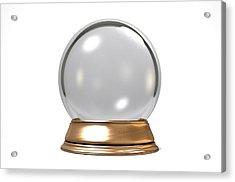 Crystal Ball Acrylic Print by Allan Swart