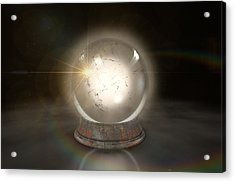 Crystal Ball Glowing Acrylic Print by Allan Swart