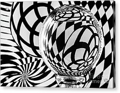 Crystal Ball Op Art 1 Acrylic Print