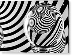 Crystal Ball Op Art 10 Acrylic Print