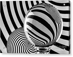 Crystal Ball Op Art 11 Acrylic Print