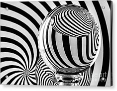 Crystal Ball Op Art 12 Acrylic Print