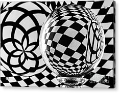 Crystal Ball Op Art 2 Acrylic Print
