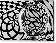 Crystal Ball Op Art 3 Acrylic Print