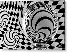 Crystal Ball Op Art 4 Acrylic Print