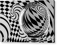 Crystal Ball Op Art 5 Acrylic Print