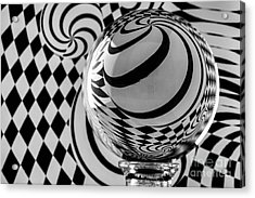 Crystal Ball Op Art 6 Acrylic Print
