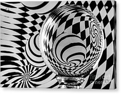 Crystal Ball Op Art 7 Acrylic Print