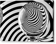 Crystal Ball Op Art 9 Acrylic Print