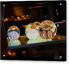 Crystal Balls Acrylic Print by Diana Haronis