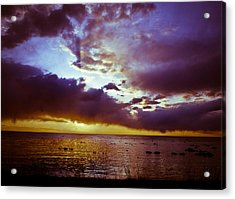 Crystal Beach Acrylic Print by Jason Naudi Photography