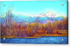Crystal Blue Winter Day Acrylic Print