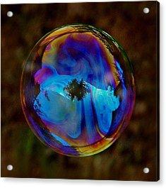 Crystal Bubble Acrylic Print by Marilynne Bull