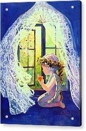 Crystal Chimes Acrylic Print by Estela Robles