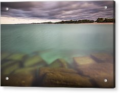 Crystal Clear Lake Michigan Waters Acrylic Print by Adam Romanowicz