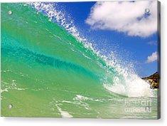 Crystal Clear Wave Acrylic Print by Paul Topp