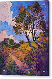 Acrylic Print featuring the painting Crystal Clouds by Erin Hanson