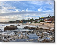 Crystal Cove Beach Cottages Acrylic Print