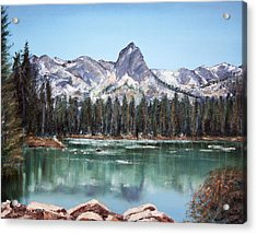 Crystal Crag From Twin Lakes Mammoth Ca Acrylic Print by Arline Wagner