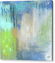 Acrylic Print featuring the painting Crystal Deep  by Michal Mitak Mahgerefteh