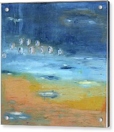 Acrylic Print featuring the painting Crystal Deep Waters by Michal Mitak Mahgerefteh