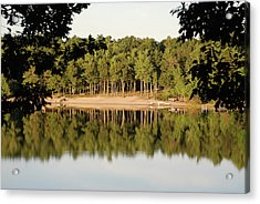Acrylic Print featuring the photograph Crystal Lake In Whitehall Mi by Ferrel Cordle