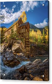 Crystal Mill Morning Acrylic Print by Darren White