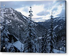 Crystal Mountain Dawn Acrylic Print