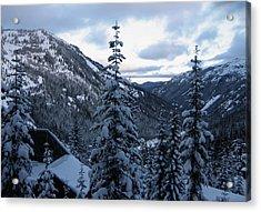 Crystal Mountain Dawn Acrylic Print by Lorraine Devon Wilke