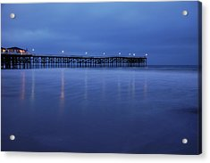 Crystal Pier Blue Acrylic Print by Kelly Wade