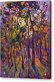 Acrylic Print featuring the painting Crystal Pines by Erin Hanson